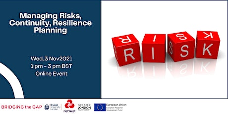 Managing Risks, Continuity, Resilience Planning- with NatWest tickets