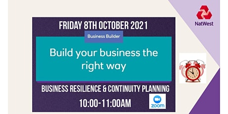 Business Resilience and Continuity Planning tickets