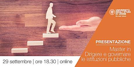 Presentazione | Master in Dirigere e governare le istituzioni pubbliche biglietti