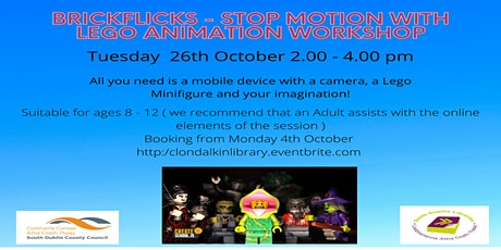 BrickFlicks - Stop Motion with Lego Animation Workshop.  Ages 8 - 12. tickets