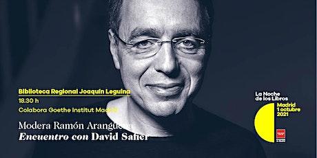 Encuentro con David Safier en la Biblioteca Regional Joaquín Leguina entradas