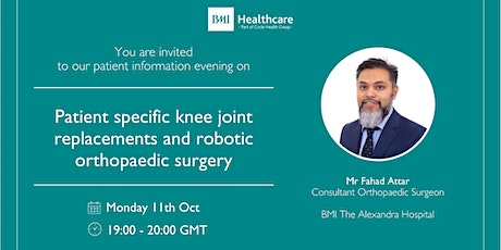 Patient specific knee joint replacements and robotic orthopaedic surgery tickets