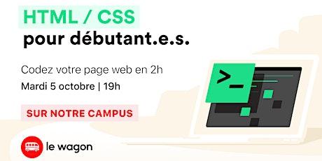 Atelier gratuit : Codez votre première page web ! billets