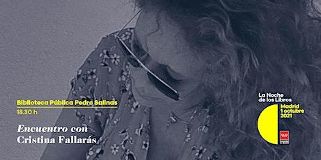 Encuentro con Cristina Fallarás en la Biblioteca Pública Pedro Salinas entradas