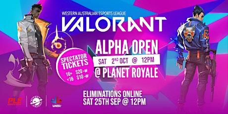 WAESL - VALORANT - Alpha Open tickets