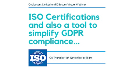 ISO Certifications and simplifying GDPR compliance... tickets