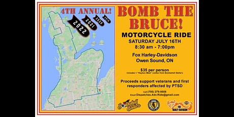BOMB THE BRUCE Motorcycle Ride 2022 tickets