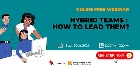 WEBINAR : Hybrid teams :  How to lead them? Tickets