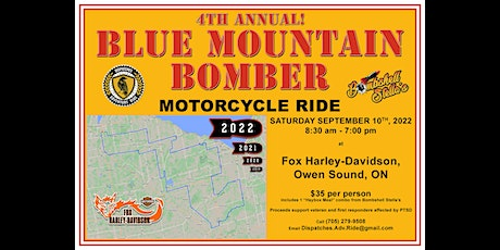 BLUE MOUNTAIN BOMBER Motorcycle Ride 2022 tickets