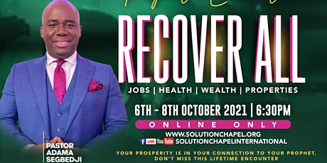 Prophetic Encounter- RECOVER ALL tickets