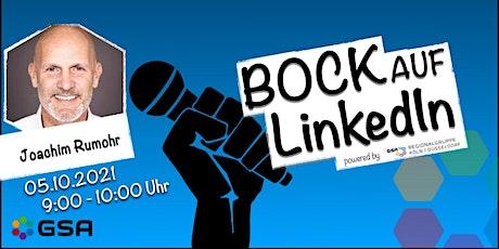 """Joachim Rumohr: """"Bock auf LinkedIN?"""" Tickets"""
