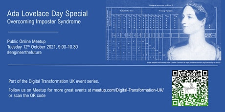 Digital Transformation UK – Ada Lovelace Day – Overcoming Imposter Syndrome tickets