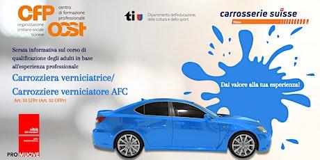 Carrozziera/carrozziere  verniciatrice/tore AFC-Art. 33 LFPr (Art. 32 OFPr) biglietti