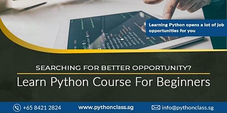 Best Python Programming Course for Beginners Singapore - Python Classes tickets