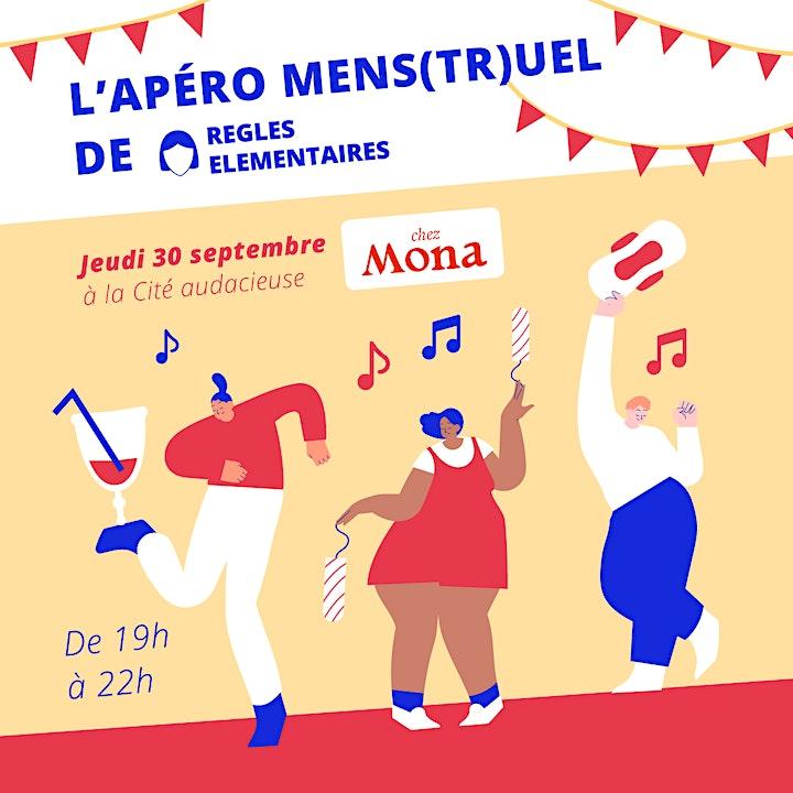 Image pour Apéro Mens(tr)uel - 30 septembre 2021 - 19h @Cité Audacieuse
