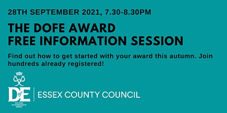 The DofE Award - Free Online Info Eve. Come find out how to get started! tickets