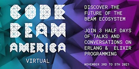 Code BEAM America 2021 Virtual tickets