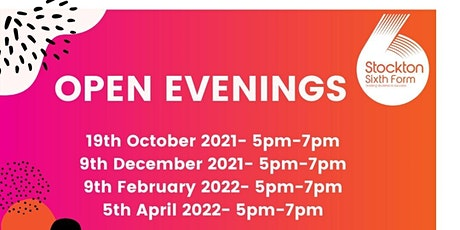 Stockton Sixth Form College Open Evening tickets
