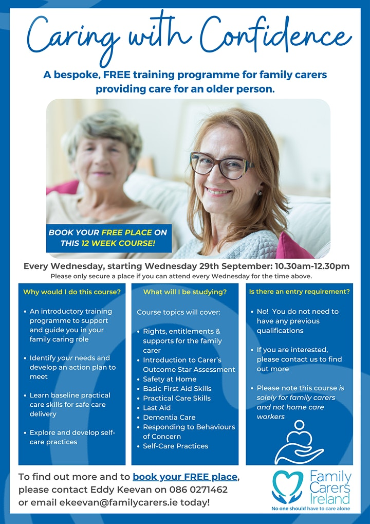 Caring with Confidence -Are you a family carer, caring for an older person? image