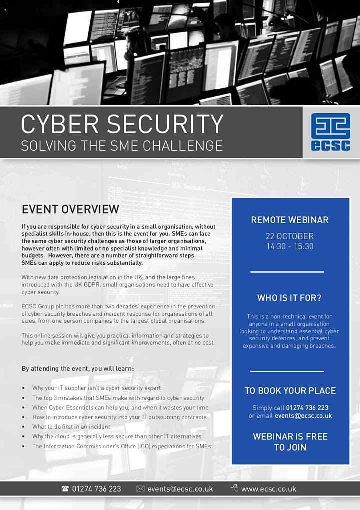 Cyber Security - Solving The SME Challenge image