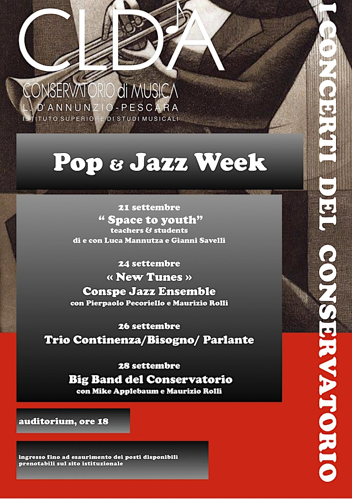 """Immagine """" Pop & jazz week""""  Concerto """"Space to youth"""""""
