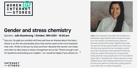 Gender and Stress chemistry tickets