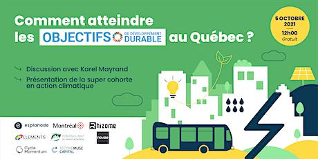 Comment atteindre les Objectifs de Développement Durable au Québec ? billets