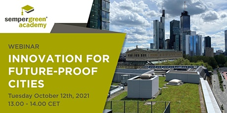 Webinar: Innovation for future-proof cities tickets