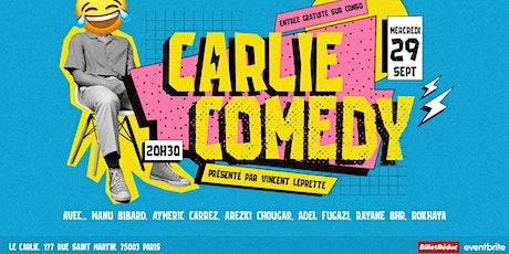 Carlie Comedy / MERCREDI 29 Septembre 20H30 billets