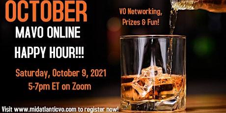 October MAVO ONLINE Happy Hour tickets