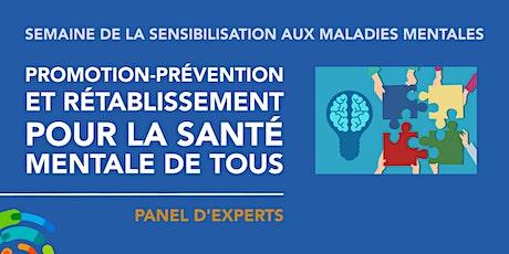 Promotion-prévention et rétablissement pour la santé mentale de tous! billets