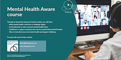 Mental Health Aware tickets