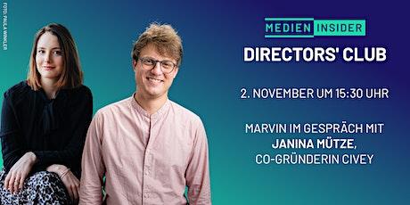Directors' Club mit Janina Mütze (Civey) tickets