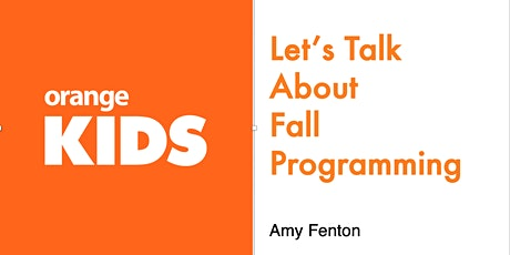 Let's Talk About Fall Programming! (For Churches Over 3000) tickets