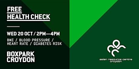 Free Health Check at Box Park Croydon tickets