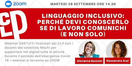 Linguaggio inclusivo - Webinar Gratuito di Digital Marketing entradas