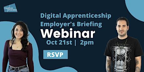 Creative Process: Digital Apprenticeships - Employer's Briefing Webinar tickets
