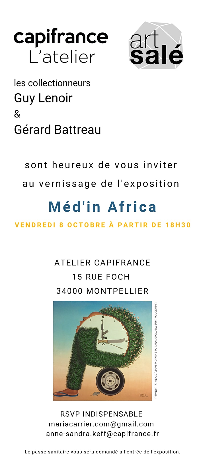Image pour Vernissage Exposition Méd'in Africa