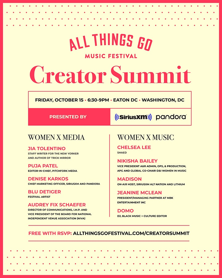 All Things Go Creator Summit 2021 Presented by SiriusXM and Pandora image