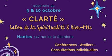 Week-end Spiritualité & Bien-être «Clarté» 9 et 10 octobre billets
