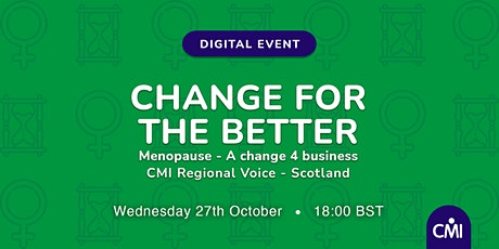 Change for the Better: Menopause - A Change 4 Business tickets