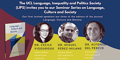 Seminar Series: Language, Culture and Society tickets