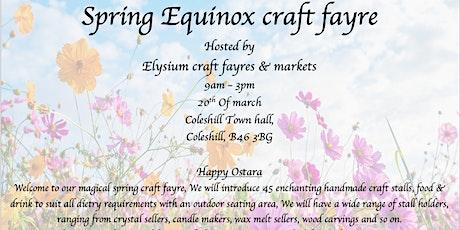 Spring equinox craft fayre tickets