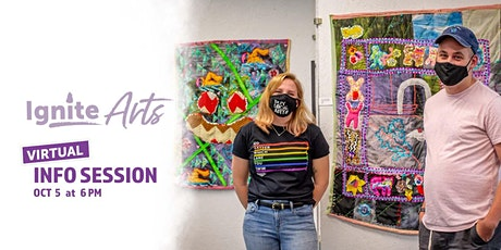 Ignite Arts Grants Virtual Info Session tickets