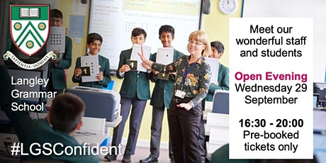 Open evening for 2022 entry to Year 7 tickets