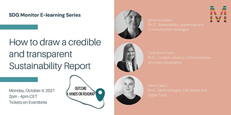How to draw a credible and transparent Sustainability Report   SDG Monitor tickets