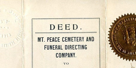 The Hidden History of Mount Peace Cemetery tickets
