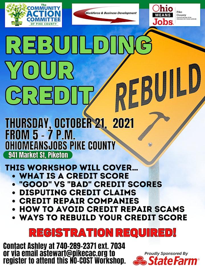 Rebuilding Your Credit Workshop image