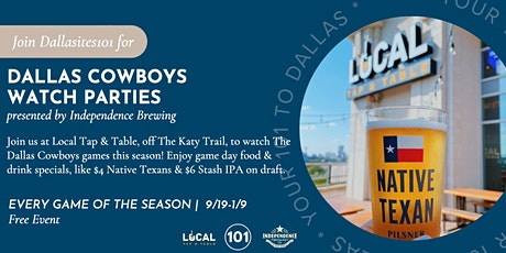 Dallas Cowboys Watch Parties at Local Tap & Table tickets
