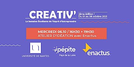 #CREATIV21 : Atelier de créativité avec Enactus Angers billets